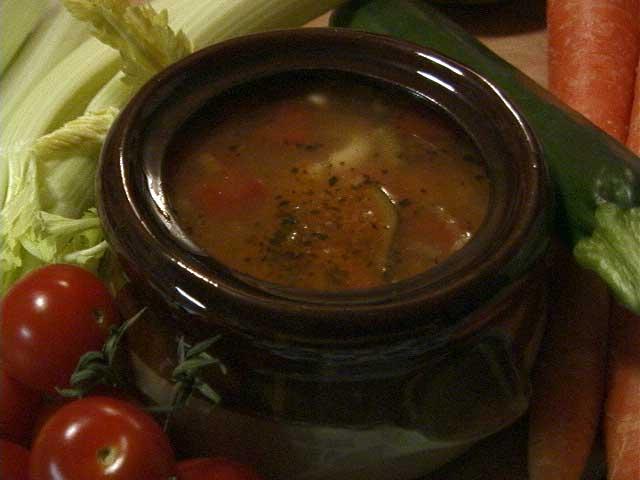 Vegan Minestrone Soup 1