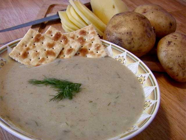 Vegan Cream of Potato Dill Soup 1